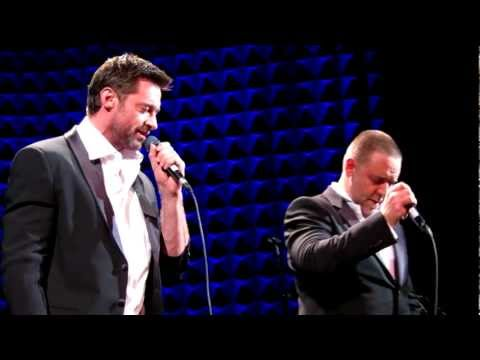 The Confrontation, Russell Crowe & Hugh Jackman, NYC Indoor Garden Party 3
