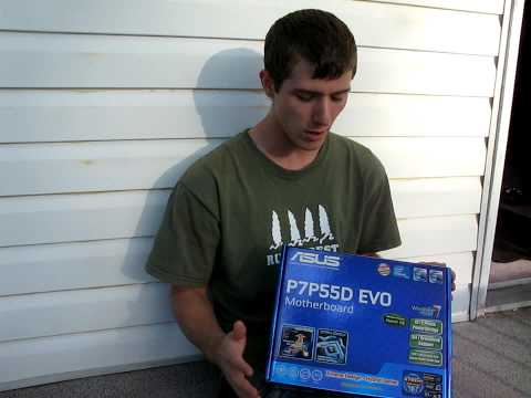 ASUS P7P55D EVO P55 LGA1156 Core i5 Motherboard Unboxing Linus Tech Tips