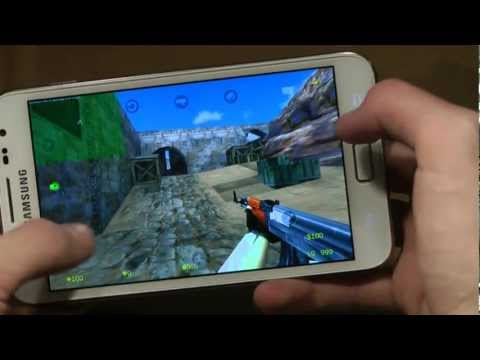 Counter Strike 1.6 Portable Gameplay Samsung Galaxy Note First Quick Look & Review Single Player