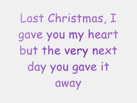 Last Christmas- Ashley Tisdale lyrics