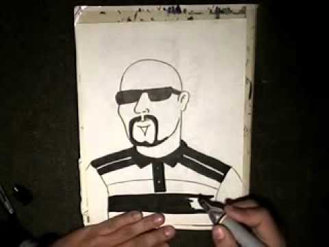 how to draw a gangster cholo Chicano Rap Instrumental) cypress Hills (Superstar)