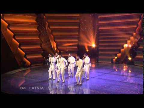 Eurovision 2006 Final 04 Latvia *Vocal Group Cosmos* *I Hear Your Heart* 16:9